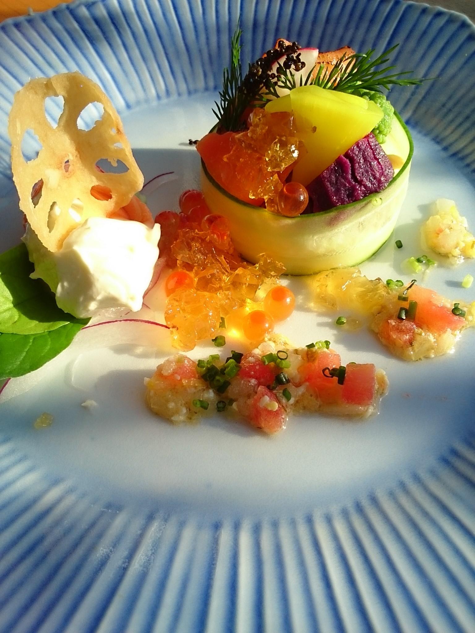 サーモンの柚子マリネ